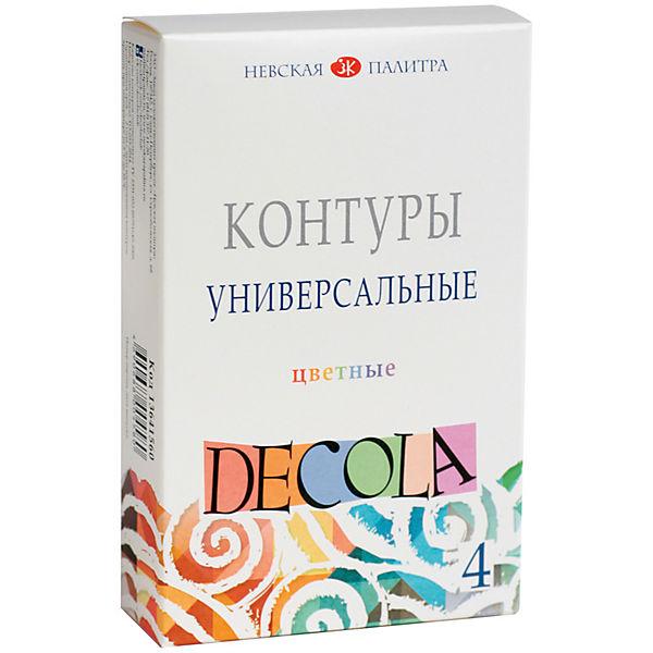 Контуры акриловые 4 цвета 18мл Decola