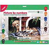 """Картина по номерам А3 """"Котята и щенок"""" Greenwich Line"""