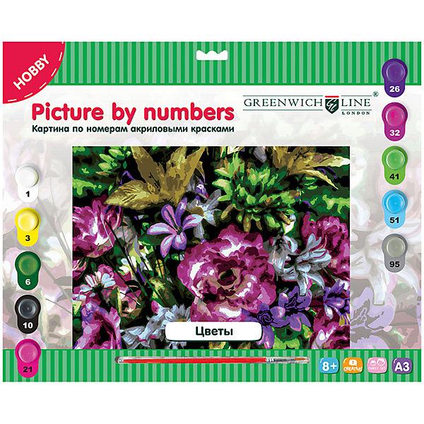 "Картина по номерам А3 ""Цветы"" Greenwich Line"