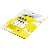 Бумага цветная intensive А4 50 листов OfficeSpace, желтый