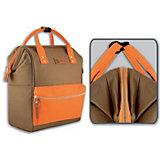 Рюкзак молодежный Феникс+, хаки с оранжевым
