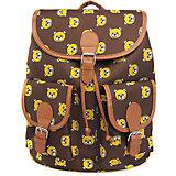 """Рюкзак """"Мишки"""" с 2-мя карманами, цвет коричневый"""