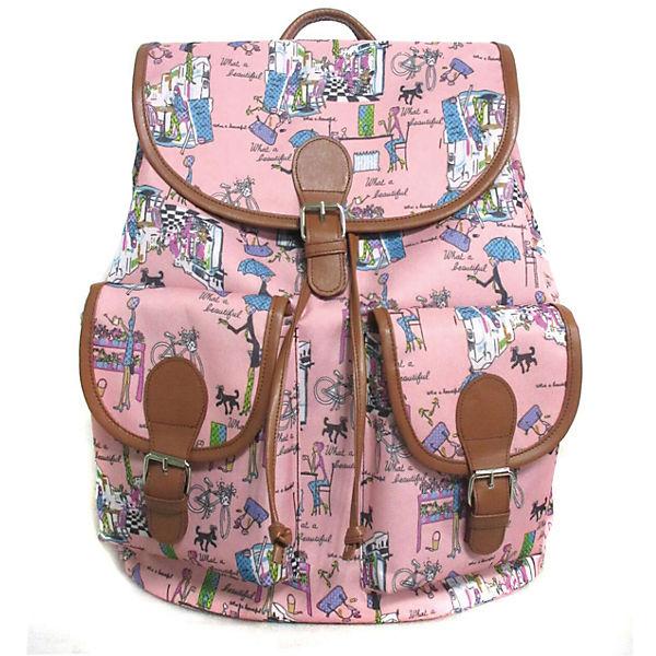 "Рюкзак ""Модница"" с 2-мя карманами, цвет розовый"