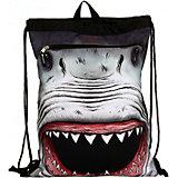 """Сумка-рюкзак """"SHARK Attack"""", с капюшоном, цвет черный/мульти"""