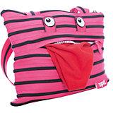 Сумка Monster Tote/Beach Bag, цвет розовый/черный