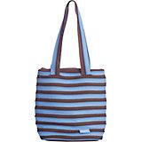 Сумка Premium Tote/Beach Bag, цвет голубой/коричневый