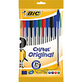 """Набор шариковых ручек Bic """"Cristal"""", 10 шт 4 цвета"""