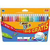 "Фломастеры Bic ""Kid Couleur"", 24 цвета"