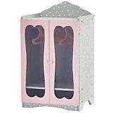 "Двустворчатый шкаф с вешалками для кукол Kids4kids ""Мир Принцесс"""