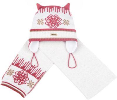 Комплект: шапка и шарф Gakkard для девочки - бежевый