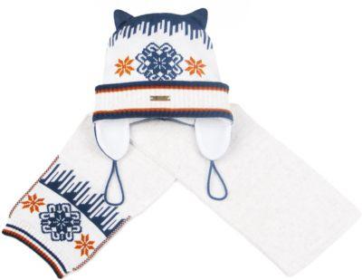 Комплект: шапка и шарф Gakkard - бежевый