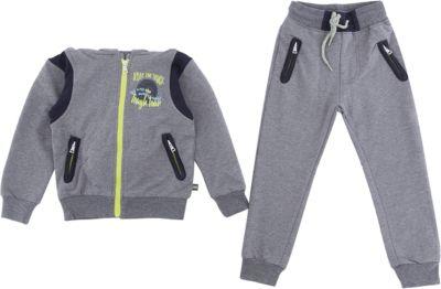 Комплект: толстовка и брюки Sweet Berry для мальчика - серый