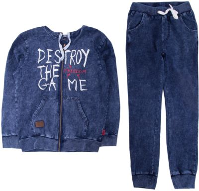 Комплект: толстовка и брюки Luminoso для мальчика - синий