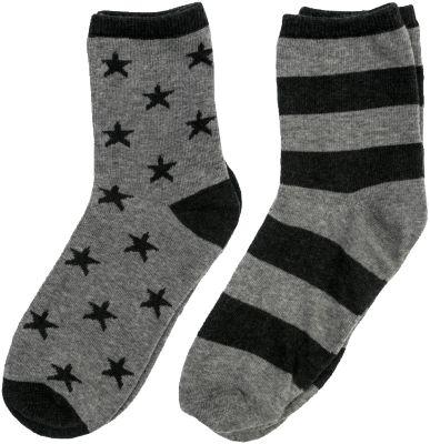Носки S'cool 2 пары для мальчика - черный/серый