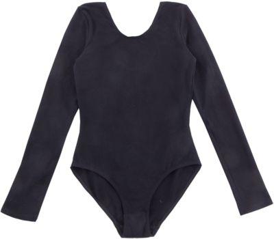 Гимнастический купальник S'cool для девочки - черный