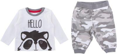 Комплект: футболка с длинным рукавом и брюки PlayToday для мальчика - белый