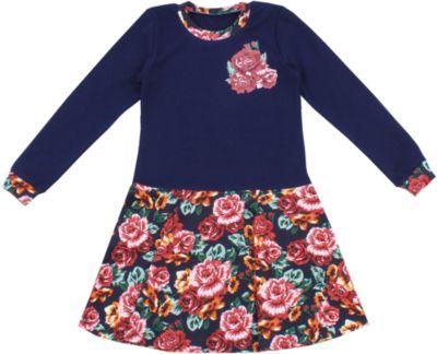 Платье Апрель для девочки - синий