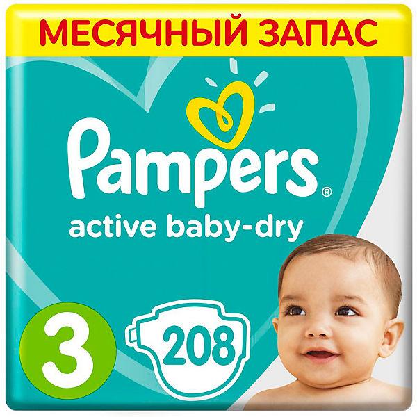 Подгузники Active Baby-Dry Midi 3 (5-9 кг), 208 шт.