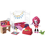 """Набор с мини-куклой Hasbro Equestria Girls """"Пижамная вечеринка"""", Пинки Пай"""