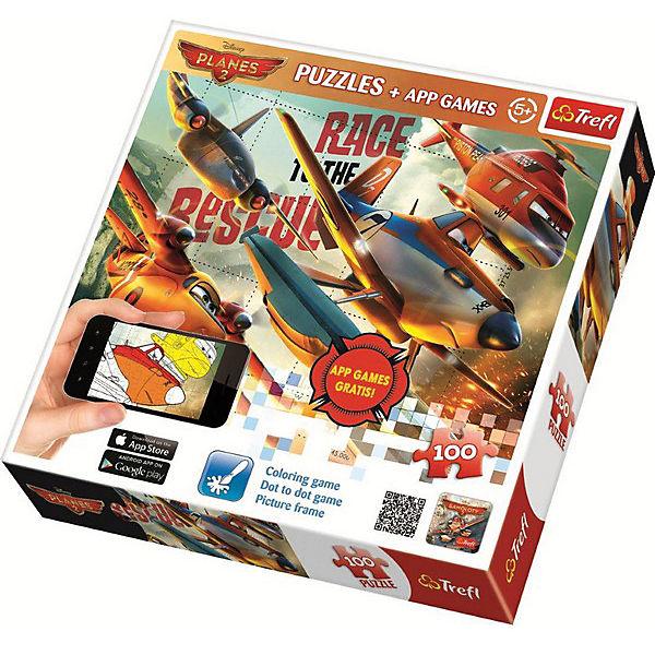 Пазлы Trefl Самолёты 2, 100 деталей + мобильное приложение