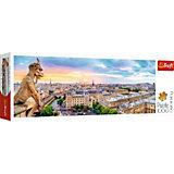 Пазлы панорамные Trefl «Вид с собора Нотр-Дам», 1000 элементов