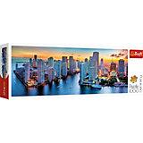 Пазлы панорамные Trefl «Майами в сумерки», 1000 элементов