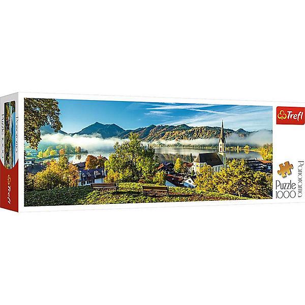 Пазлы панорамные «На берегу озера, Шлирзе», 1000 деталей