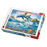 Пазлы «Счастливые дельфины», 2000 деталей