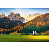 Пазлы Церковь в Доломитовых Альпах, 1500 элементов