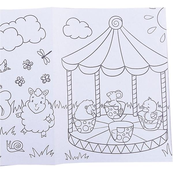 Веселая ярмарка: книжка-раскраска
