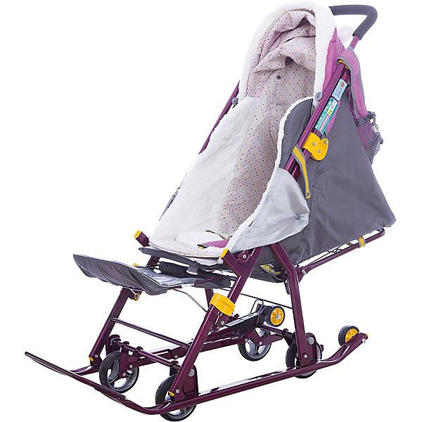 Санки-коляска Ника детям  7-2 (2017), Dog, орхидея
