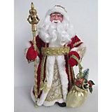 Новогодняя фигурка Дед Мороз в красном костюме из пластика и ткани
