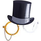 Карнавальные очки Цилиндр из пластика
