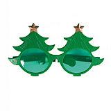 Карнавальные очки Елки из пластика