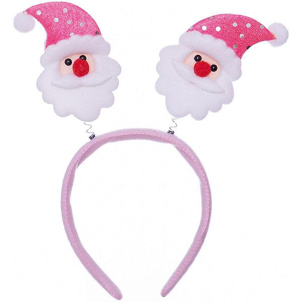 Новогоднее украшение Дед Мороз в розовом колпаке