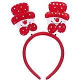 Новогоднее украшение Снеговик в красной шляпе