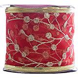 Лента новогодняя Золотые ветви арт.42803 из полиэстра на картонной катушке