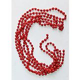 Новогодняя гирлянда Красный маскарад из полистирола, 76088