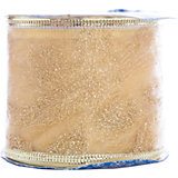 Новогодняя лента Золотое плетение из полиэстера на картонной катушке, 76225