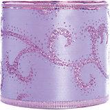 Новогодняя лента Фиолетовый вихрь из полиэстера