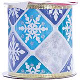 Новогодняя лента Голубой снегопад из полиэстера, , 76282