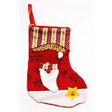 Украшение новогоднее подвесное Дед Мороз Красно- золотой арт.42515 из полиэстра