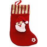 Украшение новогоднее подвесное Дед Мороз Красно-золотой Большой арт.42517 из полиэстра