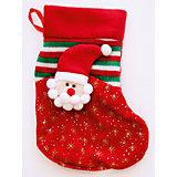 Украшение новогоднее подвесное Дед Мороз Красные Снежинки арт.42520 из полиэстра