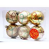 """Новогоднее подвесн. украш. шар """"Золотая коллекция"""" арт.35479"""