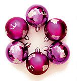 """Новогоднее подвесн. украш. шар """"Фиолетовый с облаками"""" арт.35525"""