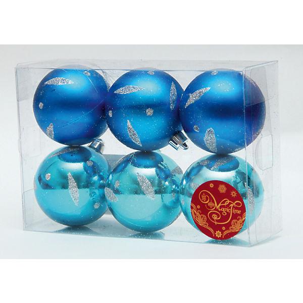 """Новогоднее подвесн. украш. шар """"Ассорти голубое и синее"""" арт.35535"""