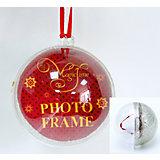 Украшение новогоднее подвесное Серебряное мерцание, арт.42313 шар из поливинилхлорида