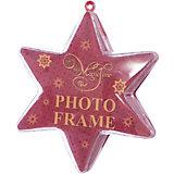 Украшение новогоднее подвесное Красное сияние, арт.42314 звезда из поливинилхлорида