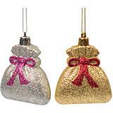 Новогоднее подвесное украшение из пластика, набор из 2 шт., 75451